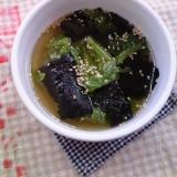 サニーレタスのあっさり海苔スープ♪
