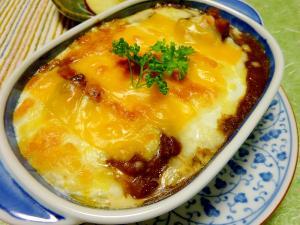■15分で..パスタと卵入り焼きカレー