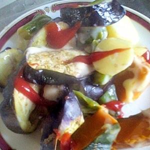 簡単♪おいしい♪野菜のマヨグラ