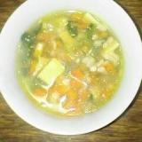 レンズ豆と具だくさん~和風スープです♪