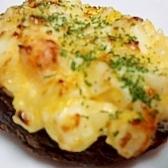 卵サラダの椎茸カップ焼き