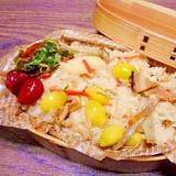 銀杏椎茸筍☆炊き込みご飯