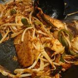 サンツァイで肉野菜炒め