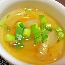 玉ねぎとしめじのコンソメスープ