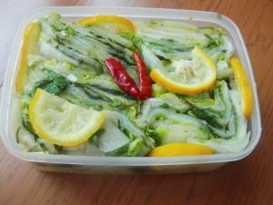 食べきり分漬ける白菜