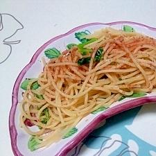 菜の花の明太パスタ風++