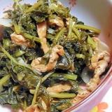 大根の間引き菜の煮物