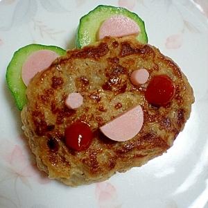 お弁当に☆うさぎハンバーグ