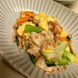 【減塩】豚肉と卵の甘辛炒め