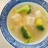 温まります!玉ねぎとブロッコリーのスープ♪