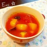 カラフル夏野菜のトマト煮込みスープ