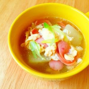 冬瓜とフワフワ〜な卵の中華スープ♪♪