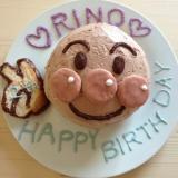 簡単♡子供喜ぶドーム型アンパンマンケーキ