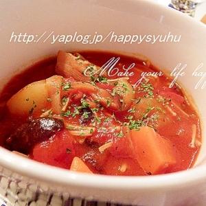 じゃがいもでほっこり☆トマトカレースープ