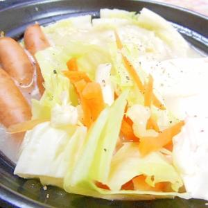 土鍋de❤野菜たっぷり白湯鍋❤