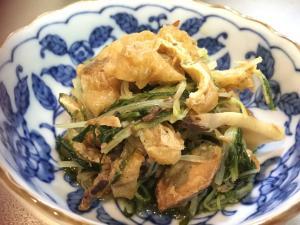 サバ缶と水菜の煮物