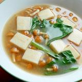 5分!?高野豆腐で❤なめこ味噌汁♪(小松菜)