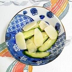 胡瓜と新生姜の酢の物