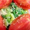 チンゲン菜とトマトのポン酢和え