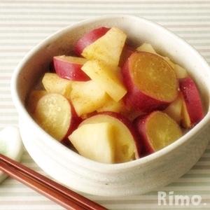 さつまいもとりんごのレモン煮