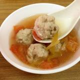 トマトと肉団子の中華スープ