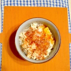 温泉卵の豆腐丼♪