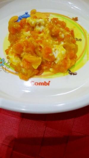 離乳食☆にんじんとかぼちゃのカッテージチーズサラダ