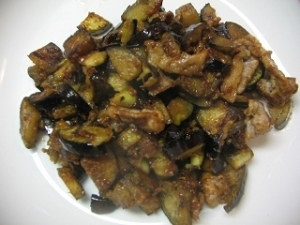 茄子豚肉味噌炒
