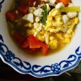 卵と豆腐、パプリカ、野菜スープ!作り置きも