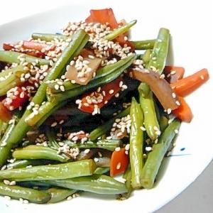 めんつゆで野菜の炒り煮