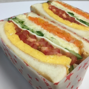 わんぱくサンド★厚焼たまごとマッシュポテト★
