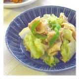 レタスと豚バラ肉の炒め物