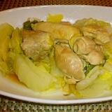 鶏ももと白菜の圧力鍋蒸し