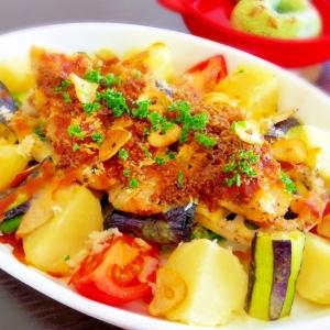 白身魚と野菜のグリル