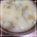 生わかめと新玉ねぎのお味噌汁☻