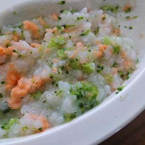 離乳食 後期 鮭とブロッコリーのおじや風粥