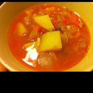 お野菜ごろごろ!トマトスープ