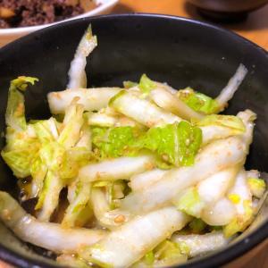 ごま油和え白菜