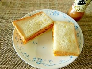 【うま塩】カボチャとソーセージのうま塩味サンド♪