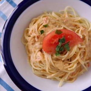 トマトまるごとマスカルポーネの冷製パスタ