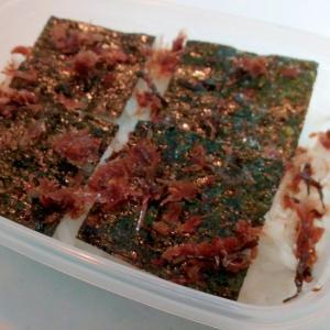 お弁当 明太子海苔とおかかと塩昆布のご飯