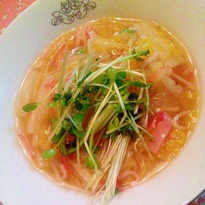 白菜とカニカマ煮☆