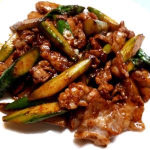 超簡単!アスパラガスと豚肉の味噌炒め★