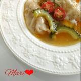 ヘルシー!夏野菜の中華スープ餃子