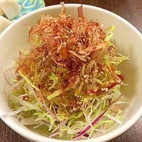 赤ねぎと千切り野菜のサラダ