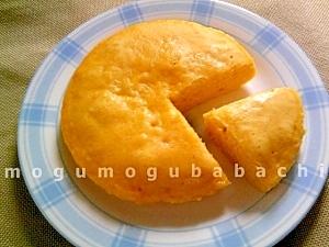 レンジで4分☆ふわふわかぼちゃケーキ