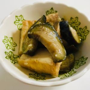 簡単副菜*ナスと厚揚げの味噌炒め