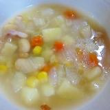 ミックスベジタブル+野菜のコンソメスープ
