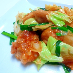 鶏肉と野菜のコチュジャン炒め
