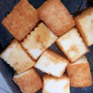 厚揚げのニンニク醤油焼き